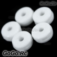 Silicone Canopy Nut x5 pcs for T-rex Trex 450 500 Helicopter - White (RHS1279)