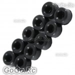 10 x Damper Rubber 80° For Trex 450 V2 SPORT PRO 4mm Feathering (RHS1291-02)
