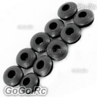 10-Pcs 450 / 500 Canopy Grommet Nuts for T-Rex Helicopter Black (LMHS1279Bx10)