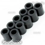 10 pcs Landing Skid Nut Black for T-rex 450 Helicopter