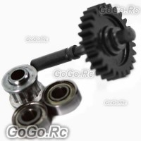 450 Metal Tail Drive Gear Assembly For Trex T-Rex Helicopter - Black (RHS1216)