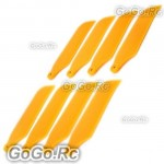 4 set Tail Rotor Blade For T-rex 450 Helicopter -Yellow (AHS1208-YY)