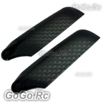 TAROT Carbon Fiber Tail Rotor Blades 62mm For 450 Helicopter -Black (RH2330-01)