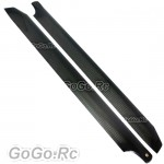Tarot 360mm Carbon Rotor Blades Black For TREX 450-480 Helicopter - RH2721