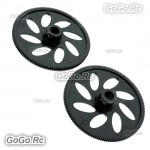 2x Black 145T Autorotation Tail Drive Gear For T-Rex 500 Helicopter GT500-060