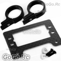 500 Carbon Fiber / Metal Tail Servo Mount Tray for T-Rex Helicopter - Black
