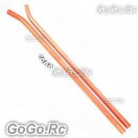 Tarot Aluminum Skid Pipe For T-REX 550 550E 600E Helicopter Orange - RH55028-02