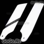 Carbon Fiber Tail Blade for T-rex Trex Helicopter 600 - Black & White (L600002)