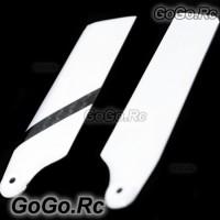 Carbon Fiber Tail Blade for T-rex Trex Helicopter 600 - Black & White (L600002)