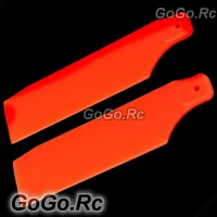 700 Tail Rotor Blade For Trex T-rex Helicopter Fluorescent Orange (RH7057-03)