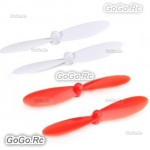 Hubsan X4 H107D FPV RC Quadcopter Part Blade Rotor Propeller Red White H107D-A06