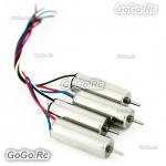 4 pcs Motor Set For Hubsan X4 H107 H107L H107-A03 QuadCopter 7mm fit rotor blade