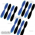 3 Set Hubsan X4 H107D Parts Rotor Blade Propeller Blue & Black - H107D-A02BU3
