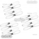 3 Set Hubsan X4 H107D Parts Rotor Blade Propeller Transparent - H107D-A02T3