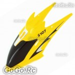 Yellow Head Cover Canopy Spare Parts - SYMA S107G RC Mini Helicopter -S107G-01YY