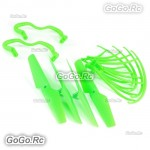 Syma X5 X5c Quadcopter Propellers Landing Skid Protectors Spare Parts Green