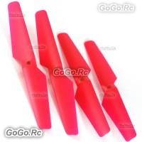 4 Pcs CW CCW Red Syma X5C X5 Rc Quadcopter Main Blades Propellers Spare Parts