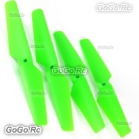 4 Pcs CW CCW Green Syma X5C X5 Rc Quadcopter Main Blades Propellers Spare Parts
