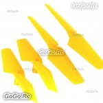 4 Pcs CW CCW Yellow Syma X5C X5 Rc Quadcopter Main Blades Propellers Spare Parts