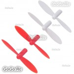 4 Pcs RC Quadcopter Rotor Blades Propeller RED For Q4 Nano Wltoys V272 H111 Cheerson CX10 CX11 395 - V272-01RD
