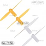 4 Pcs RC Quadcopter Rotor Blades Propeller Yellow For Q4 Nano Wltoys V272 H111 Cheerson CX10 CX11 395 - V272-01YY