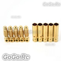 3mm Gold Bullet Connector for Battery Motor Esc x 5 Pairs For Rc (BR511-512)