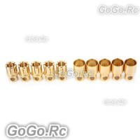 8mm Gold Bullet Connector for Battery Motor Esc x 5 Pairs For Rc (BY502-03)