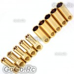5.5mm Gold Bullet Connector for Battery Motor Esc x 5 Pairs For Rc (BY504-05)