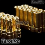 10 Pairs 3.5mm Gold Bullet Banana Connector Plug For Rc Motor Esc - SG-B03x10
