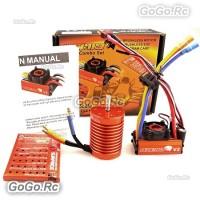 SKYRC LEOPARD 60A ESC 13T 3000KV Brushless Motor 1/10 Car Combo w/program card