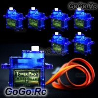 6x 9g Tower Pro Servo For RC Helicopter Plane Boat Car SG90