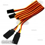 2 Pcs 40CM 400mm Servo Extension Lead Wire Cable For Futaba JR RC Car Plane