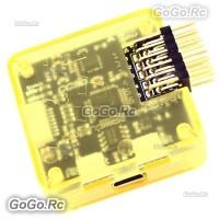 CC3D Open Source Openpilot Flight Controller Processor w/ Yellow Case Side Pin