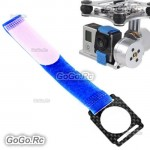 Gopro 3 Camera Carbon Fiber Velcro Fastener Strap Tie Wrap for Gopro Hero 3 FPV (MC003BU)