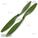 1 Pair Tarot Multicopter Quadcopter Aircraft Propeller 6mm 1045 Green RH2710-07
