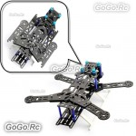 300mm Folding Pure Carbon Fiber Quadcopter Multirotor Frame Kit Blue - EQA300BU