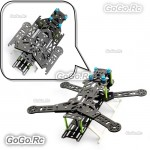 300mm Folding Pure Carbon Fiber Quadcopter Multirotor Frame Green - EQA300GN