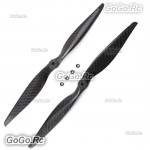 "1 Pair 13x4.0"" 1340 Carbon Fiber CW CCW Propeller Props for Quad Multi-Copter"