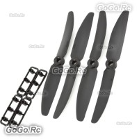 2x Black 5030 Direct Drive Propeller QAV 250 240 Mini Quadcopter Multicopter CW CCW