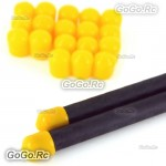 20x Quadcopter Multicopter Landing Skid Nut For 8mm Rubber Tube End Cap Yellow MC023YY8