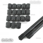 20x Quadcopter Multicopter Landing Skid Nut 10mm Rubber Tube End Cap Black MC023BK10