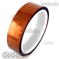 25mm 2.5cm x 30M Kapton Tape High Temperature Heat Resistant Polyimide (F019-25)