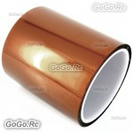 100mm X 30M No Adhesive Side Kapton Tape High Temperature Resistant Polyimide