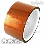 50mm x 10M Double Adhesive Side Kapton Tape High Temperature Resistant Polyimide