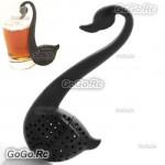 Cute Swan Shape Colander Spoon Tea Strainer Teaspoon Infuser Filter - H00001BK