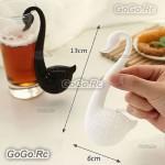Cute Swan Shape Colander Spoon Tea Strainer Teaspoon Infuser Filter - H00001WH