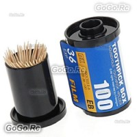 Novelty Film Roll Canister Household Toothpick Holder Box Blue - H00004BU