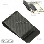 Real Carbon Fiber Money Clip Matte Black Credit Card holder Money Wallet H00005