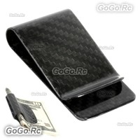 Real Carbon Fiber Money Clip Polished Black Credit Card holder Money Wallet