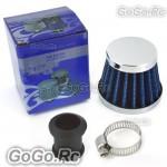 12 mm BLUE CONE MINI OIL AIR INTAKE CRANKCASE VENT VALVE COVER BREATHER FILTER